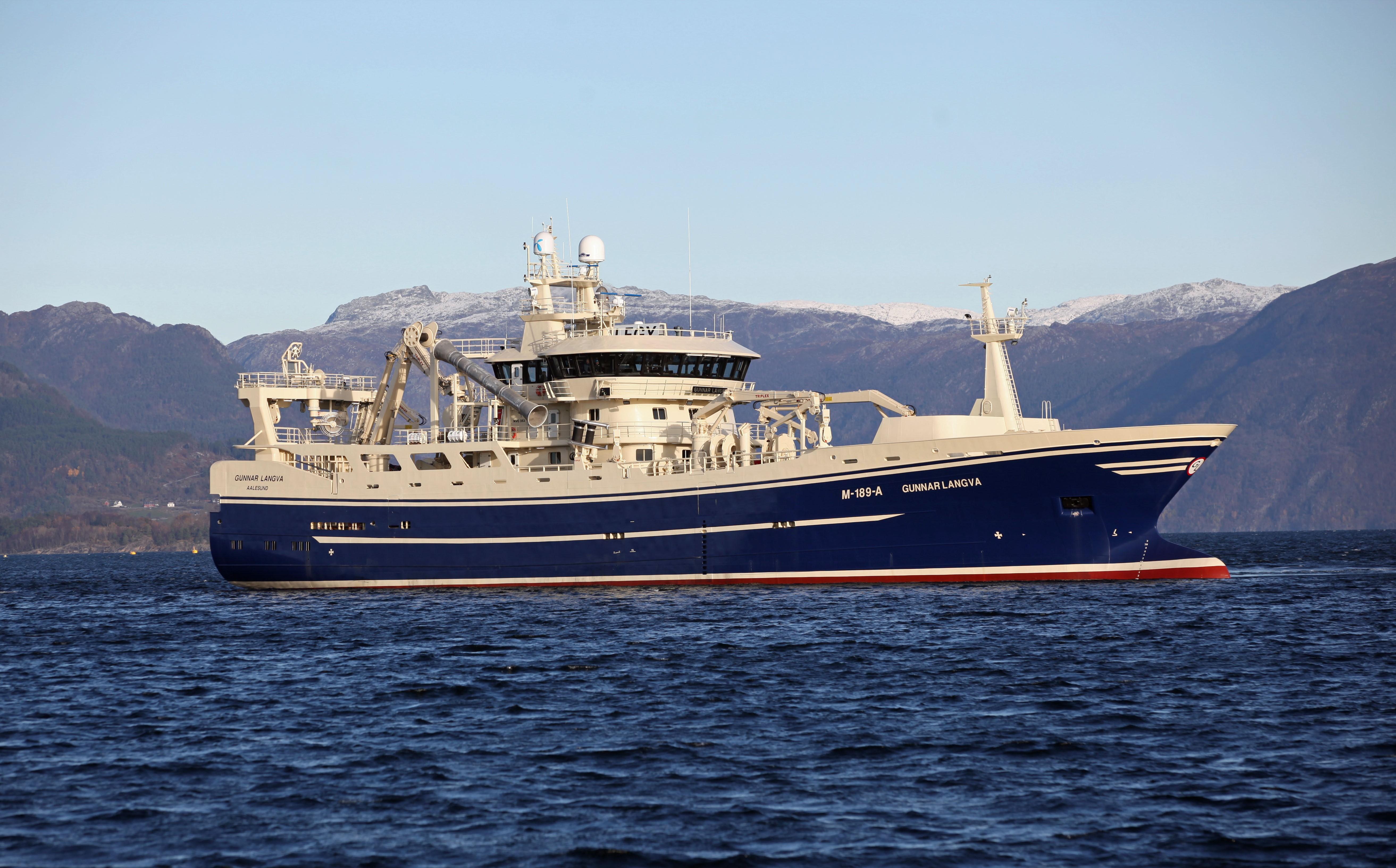 Gunnar Langva sea trial