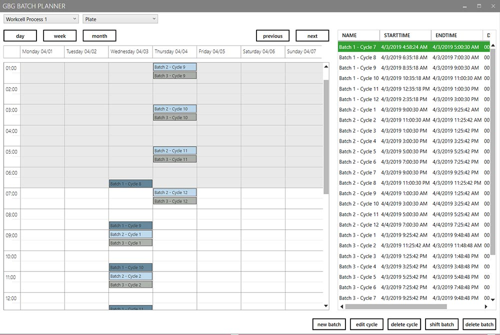 GBG Batch Planner Screenshot
