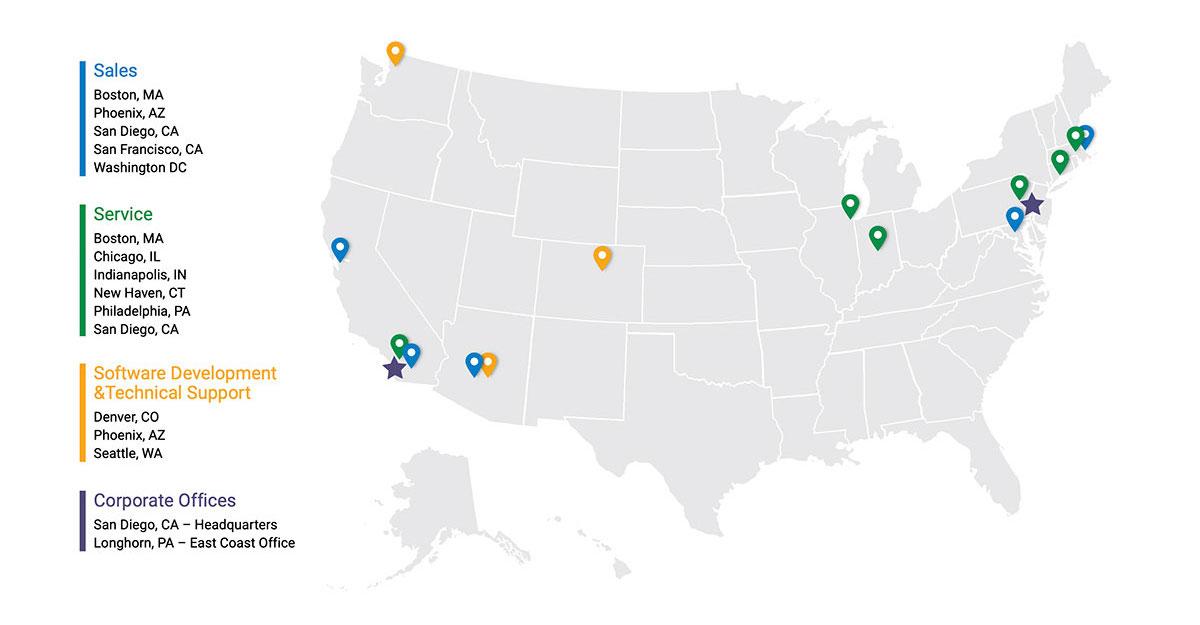 USA Contact Map