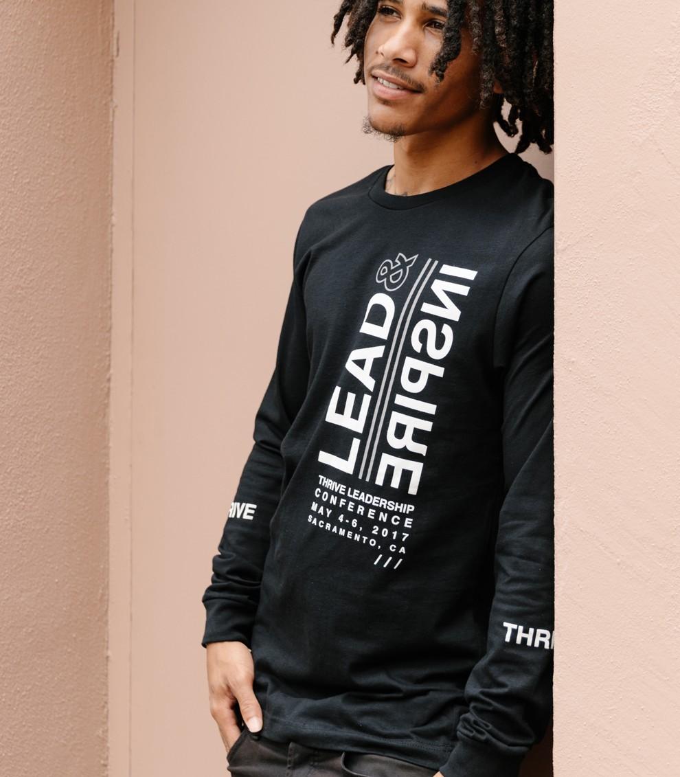 Man in black long-sleeve shirt