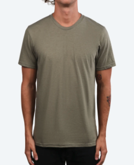A hunter green colored custom t-shirt option for you to customize.