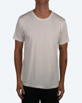 An oatmeal colored custom t-shirt option for you to customize.