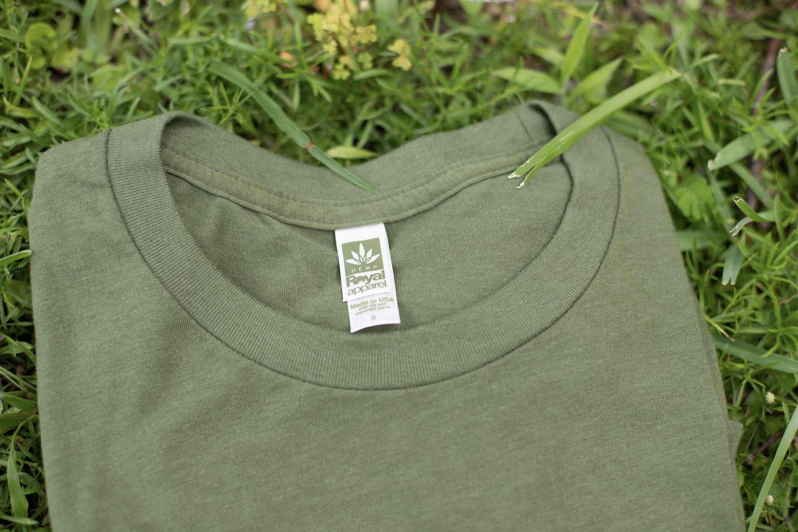 A green shirt made of hemp