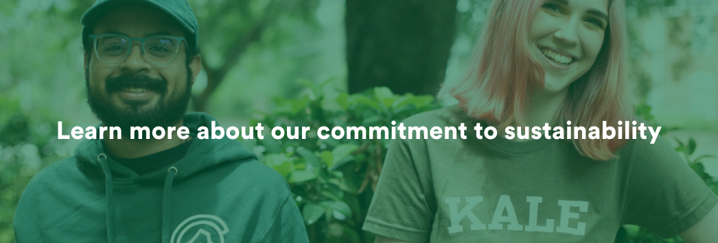 Learn more about our commitment to sustainability