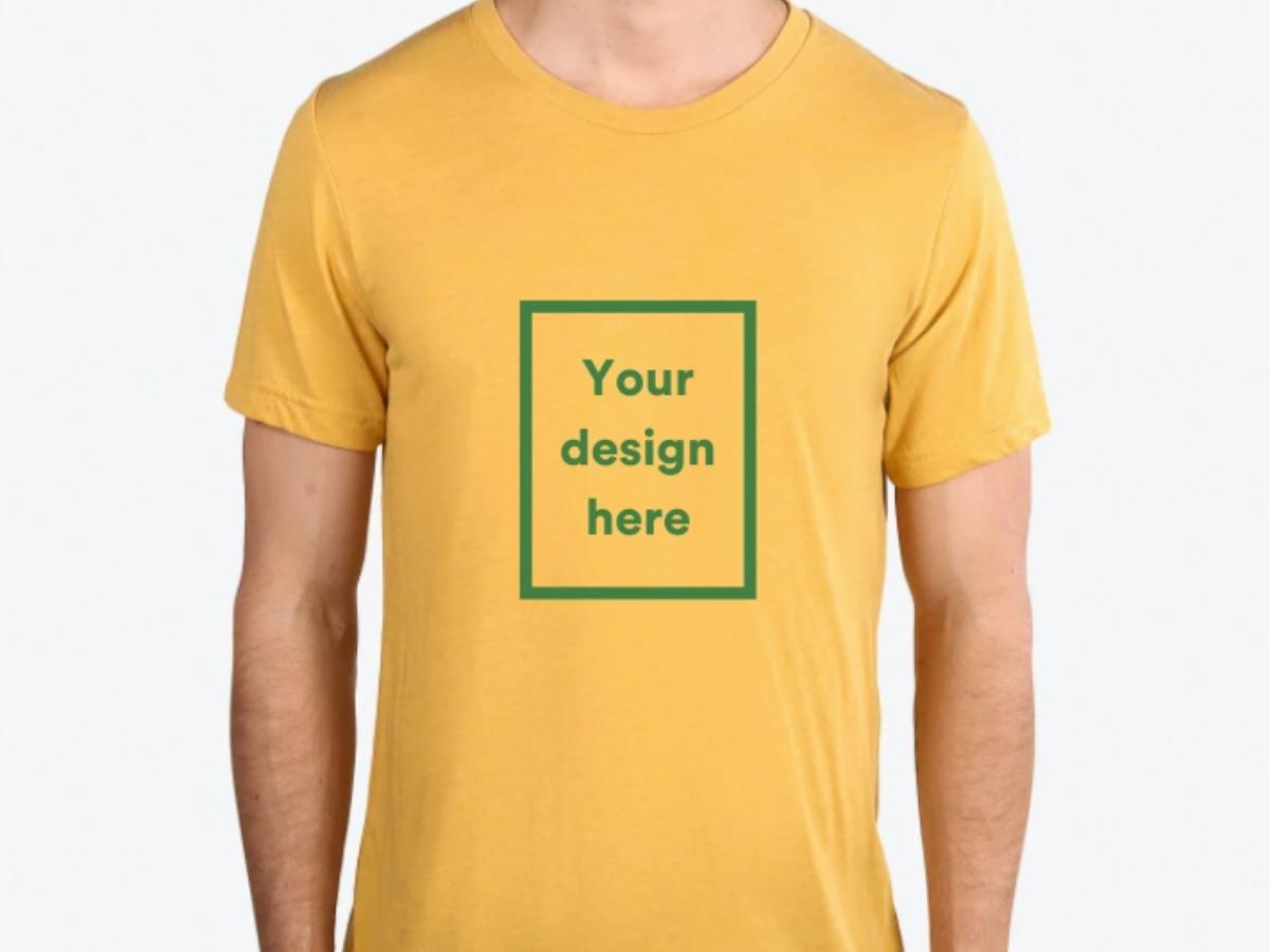 A mustard custom shirt option.