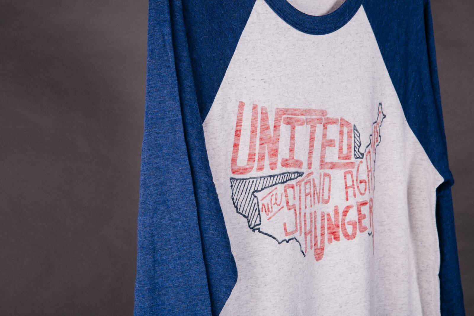 inside out custom printed united we stand t-shirt