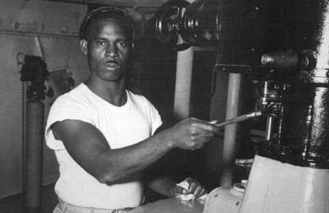 old t-shirt photo of machine operator