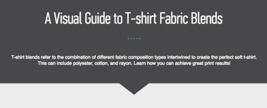 A visual Guide to T-shirt fabric blends screenshot