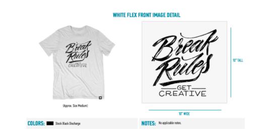break rules white t-shirt