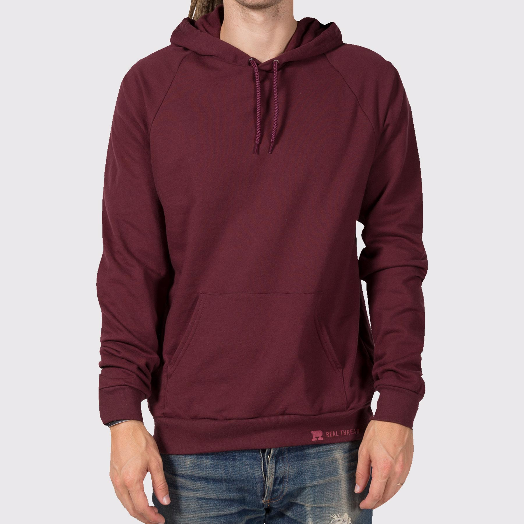 American Apparel 5495 Hoodie Template Modeled