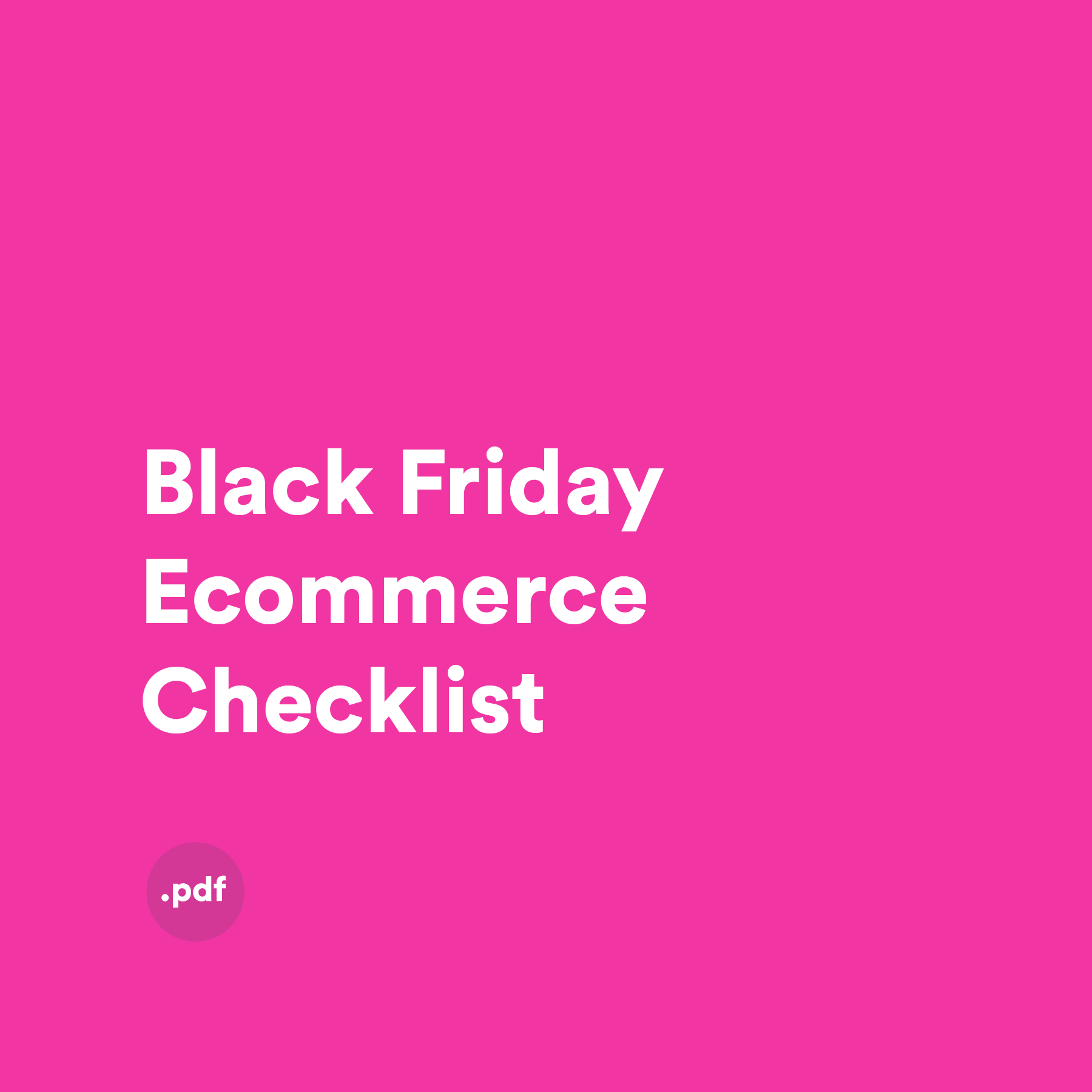 Black Friday eCommerce Checklist