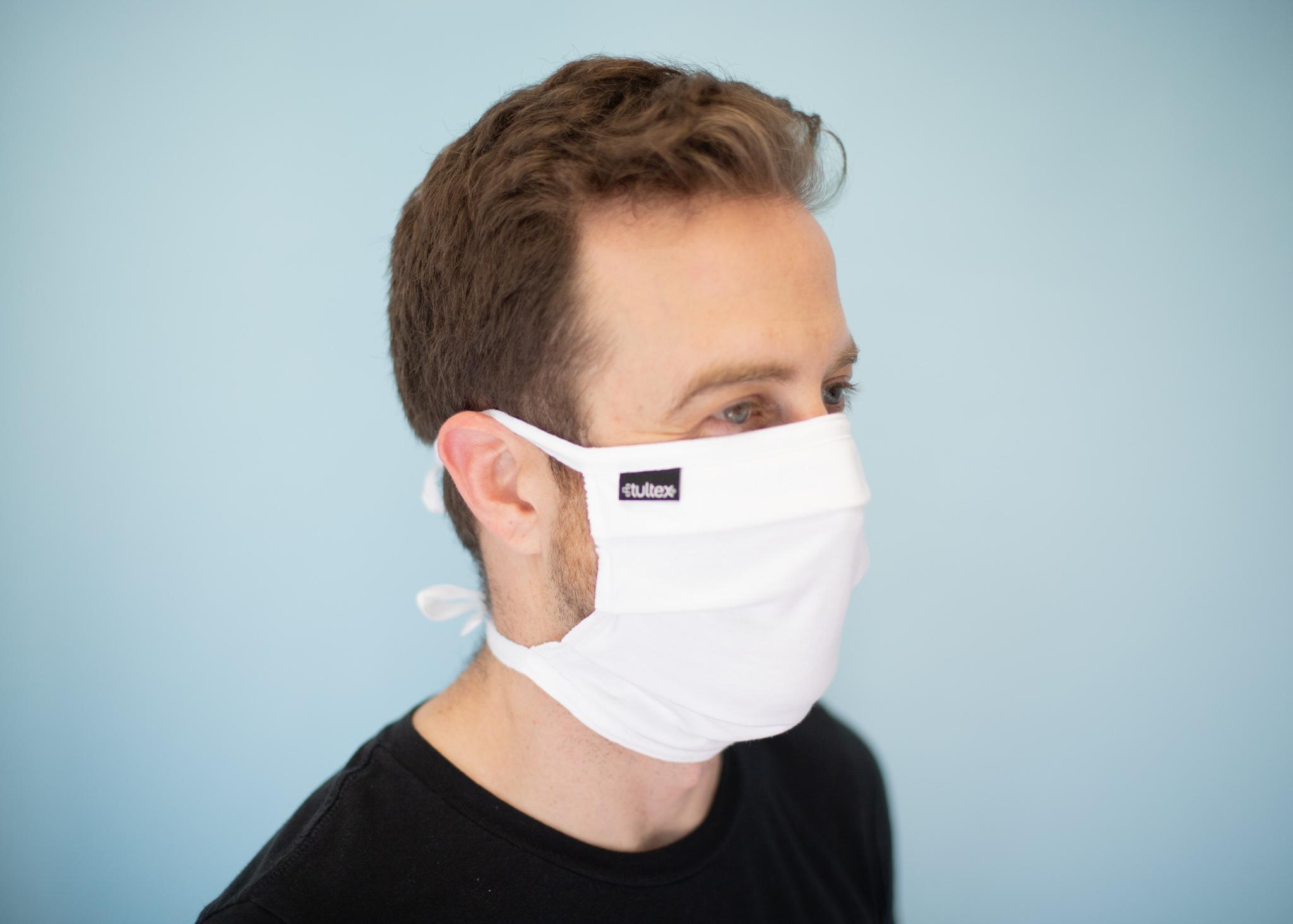 mark wearing white mask