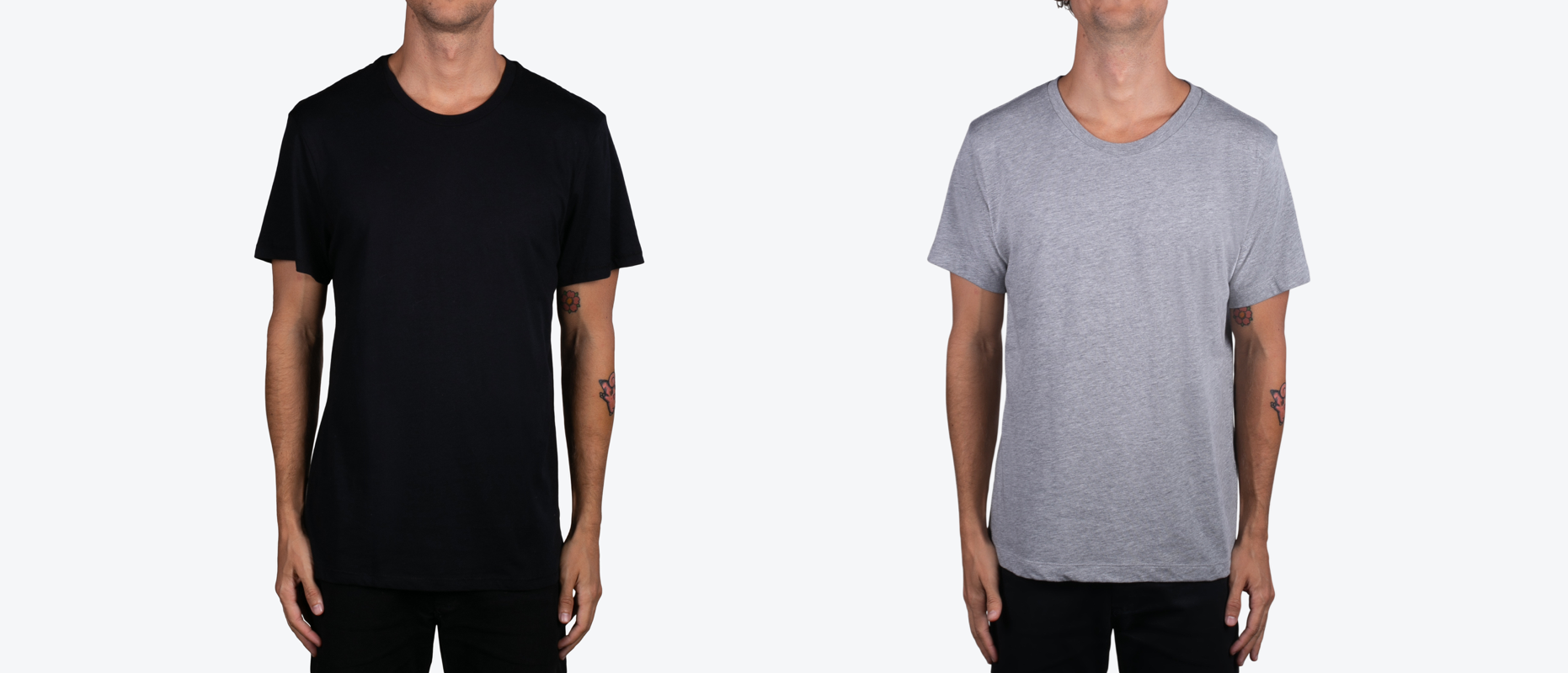 Alternative Apparel 6005 (left) and 1070 (right)