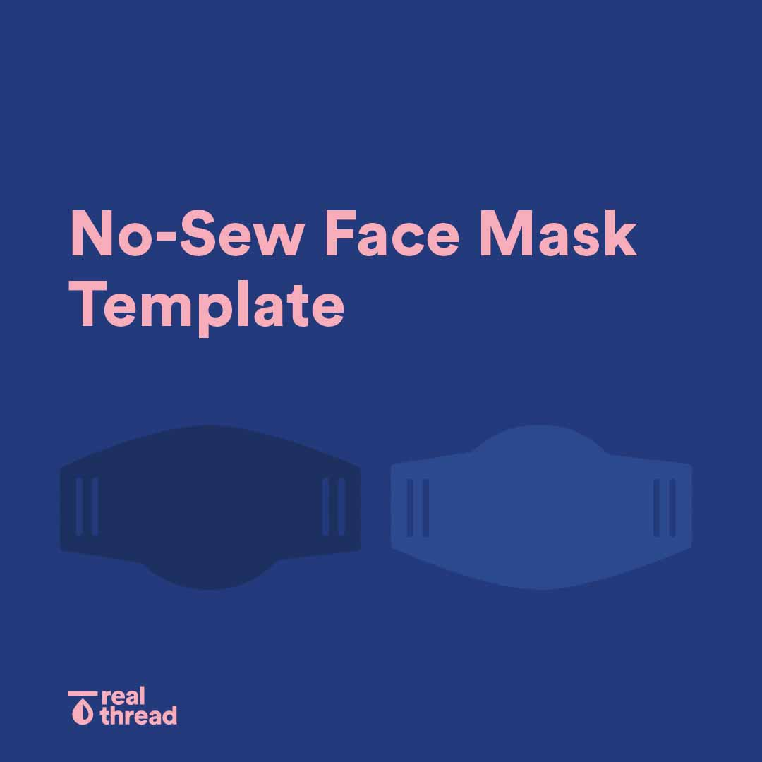 No-Sew Face Mask Template
