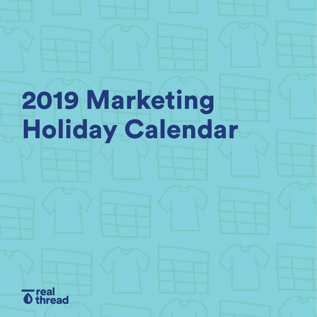2019 Marketing Holiday Calendar