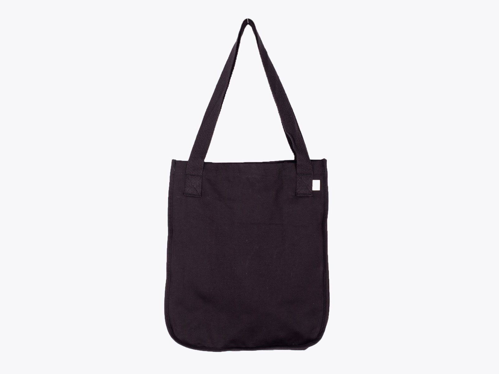 econscious EC8040 Organic Cotton Canvas Market Black Tote Bag