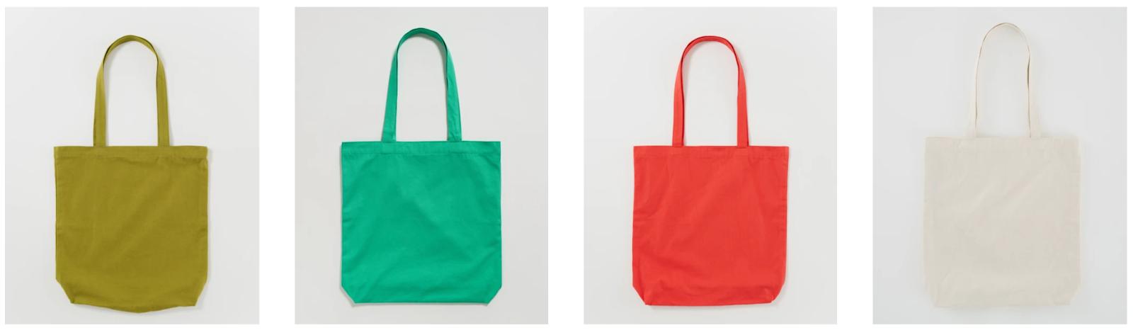 Baggu Multi-colored Canvas Tote Bags