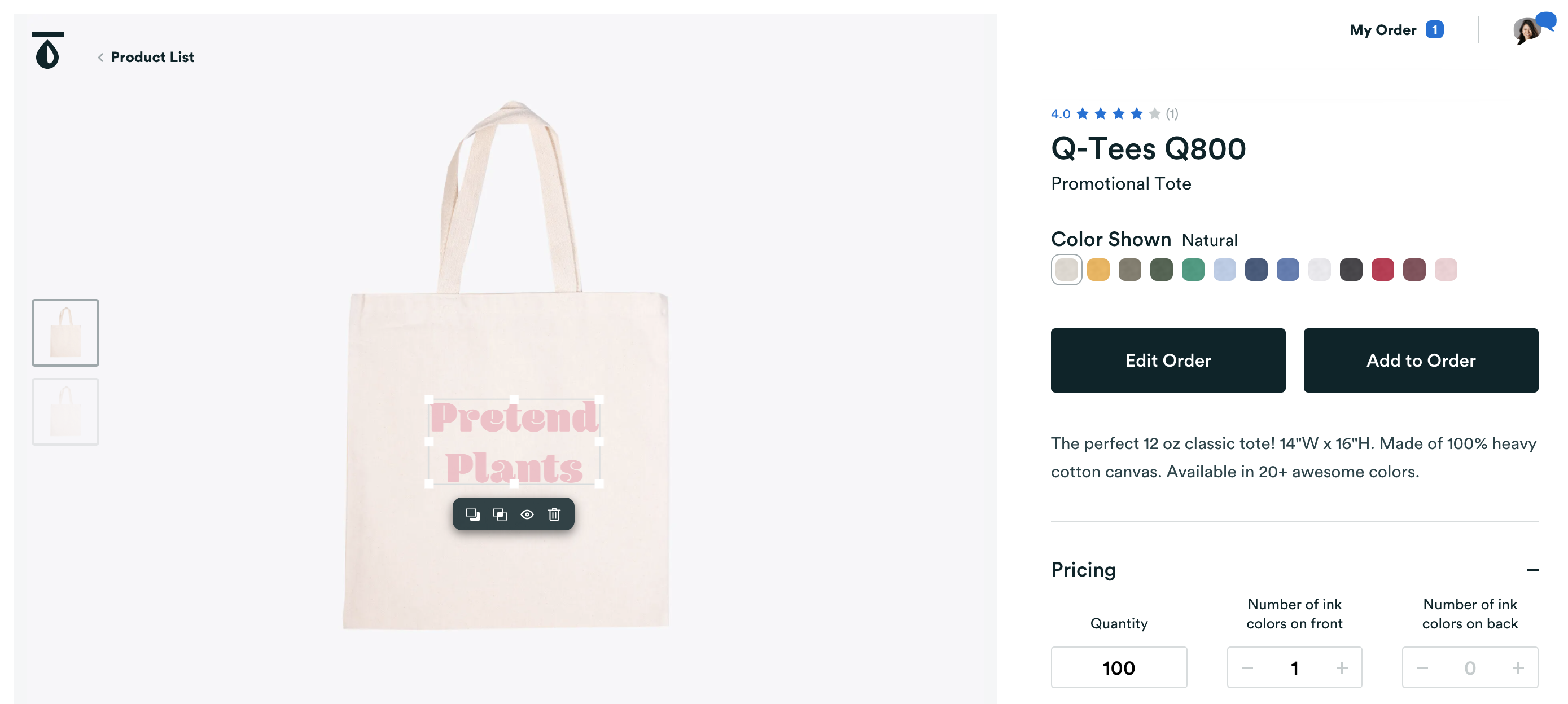 Real Thread Product Builder With White Tote Bag