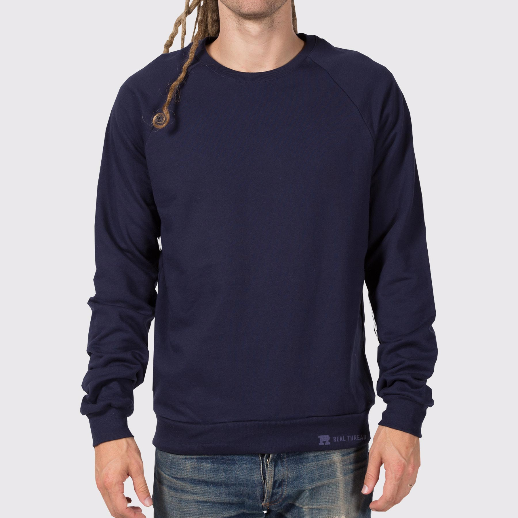 American Apparel 5454 Crew Pullover Template Modeled