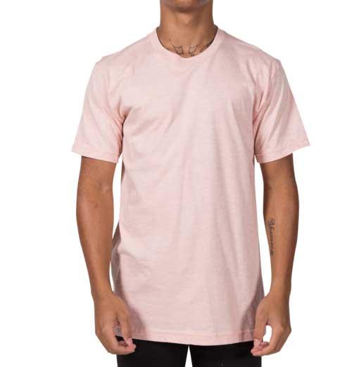 man wearing light pink t-shirt