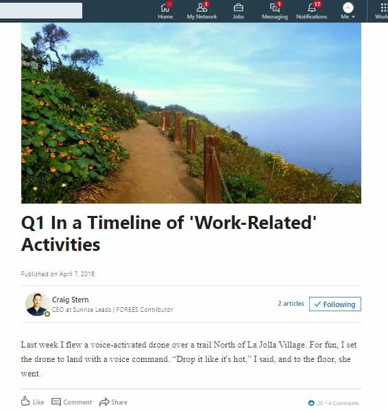 webpage screenshot of a hiking trail