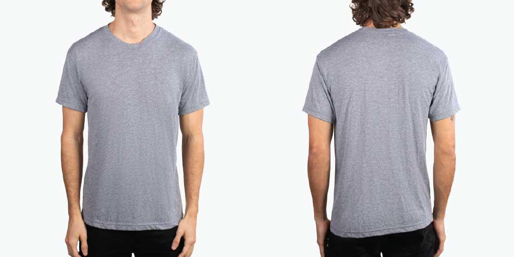 man wearing grey shirt