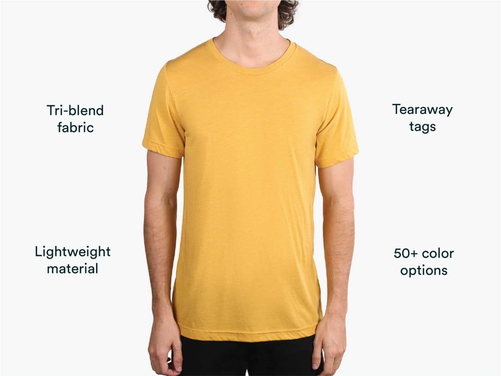man wearing yellow shirt