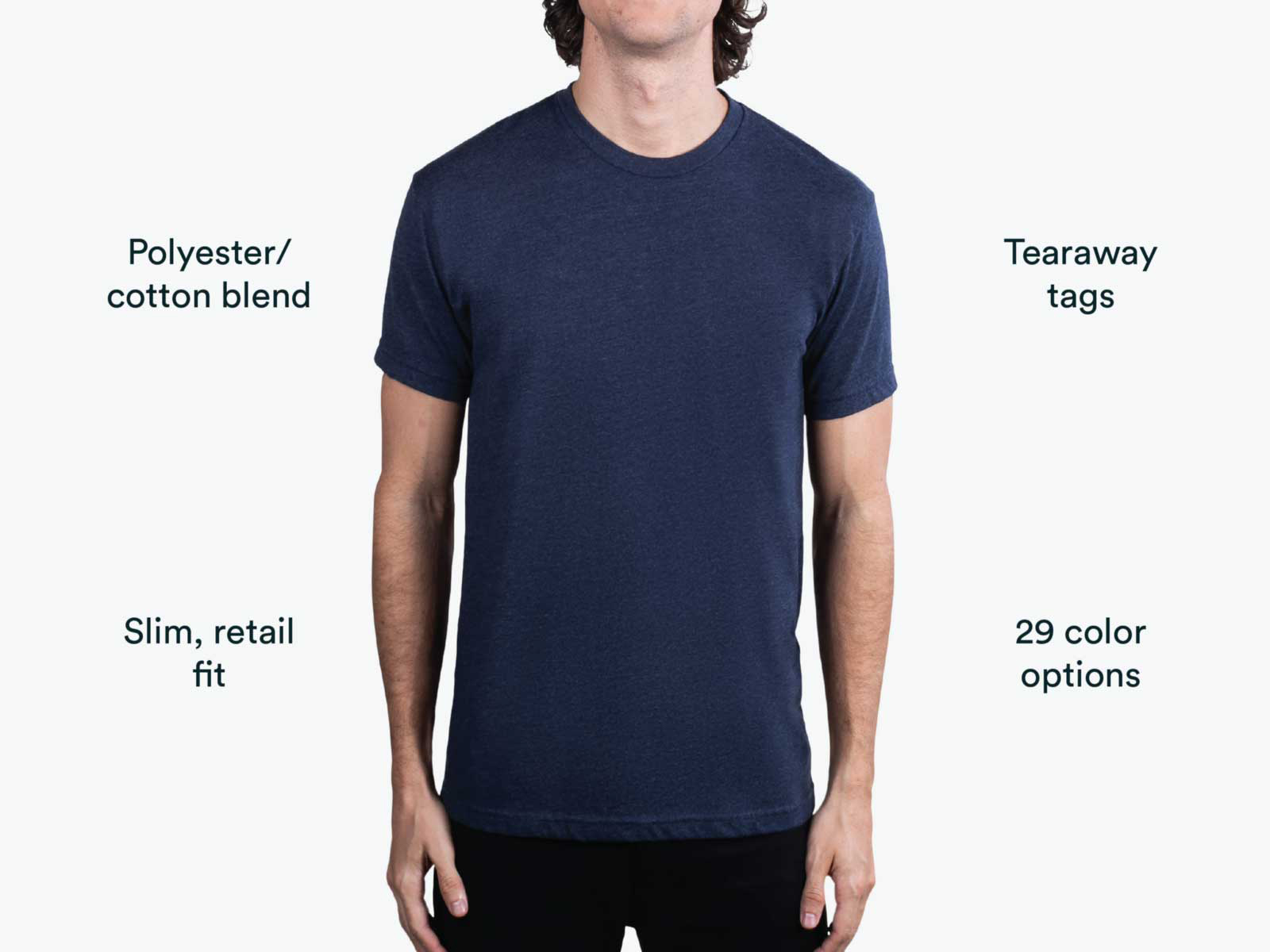 man wearing navy net level shirt