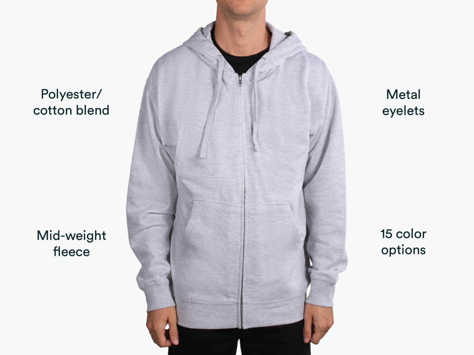 man wearing grey independent trading zip up