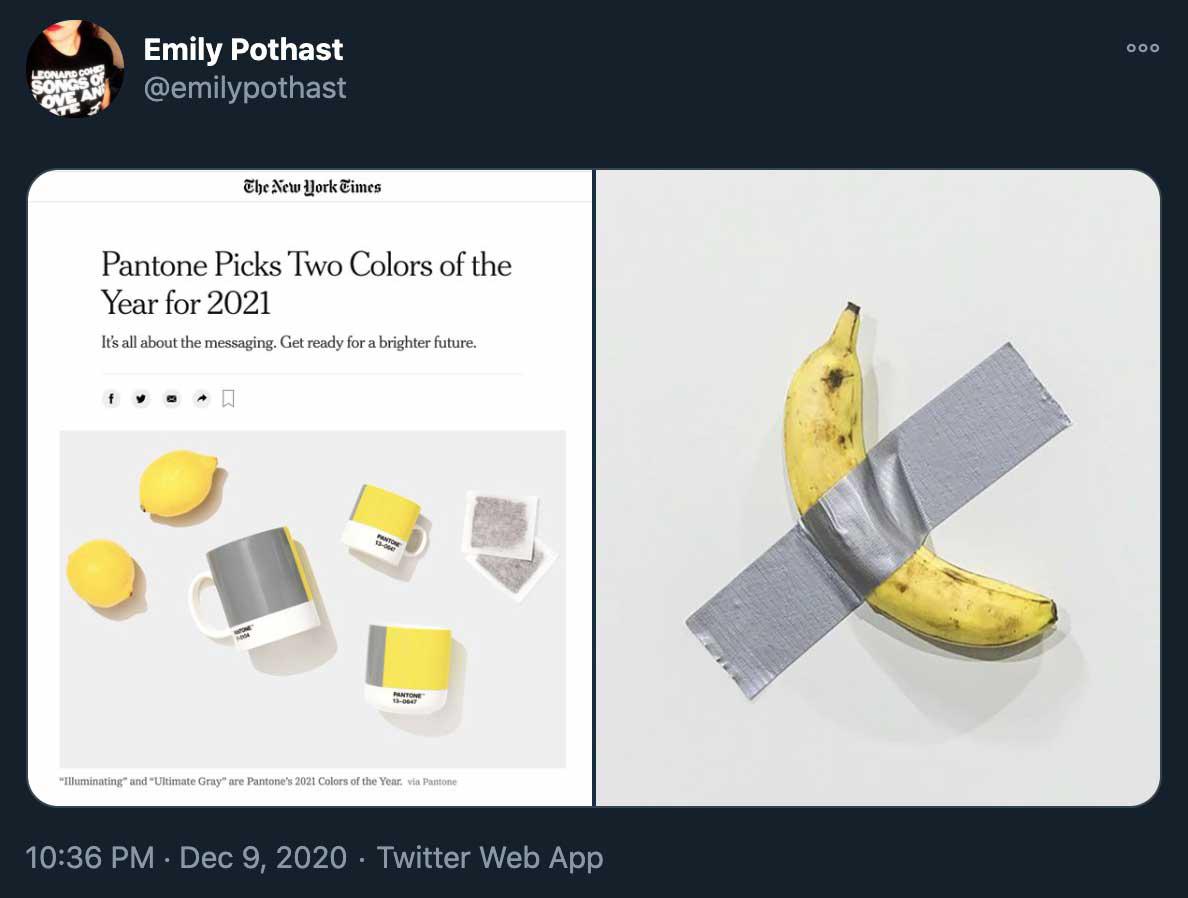 pantone picks screenshot banana