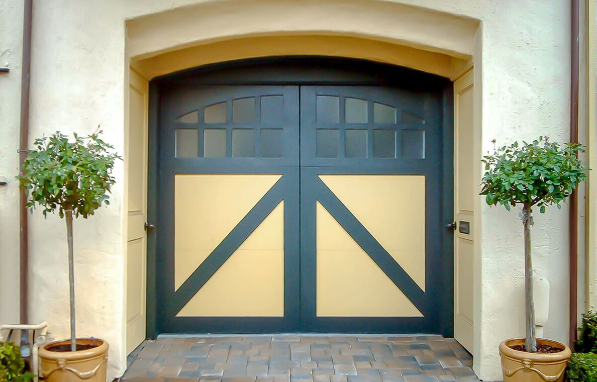 Custom Carriage House true swing RW Garage Doors