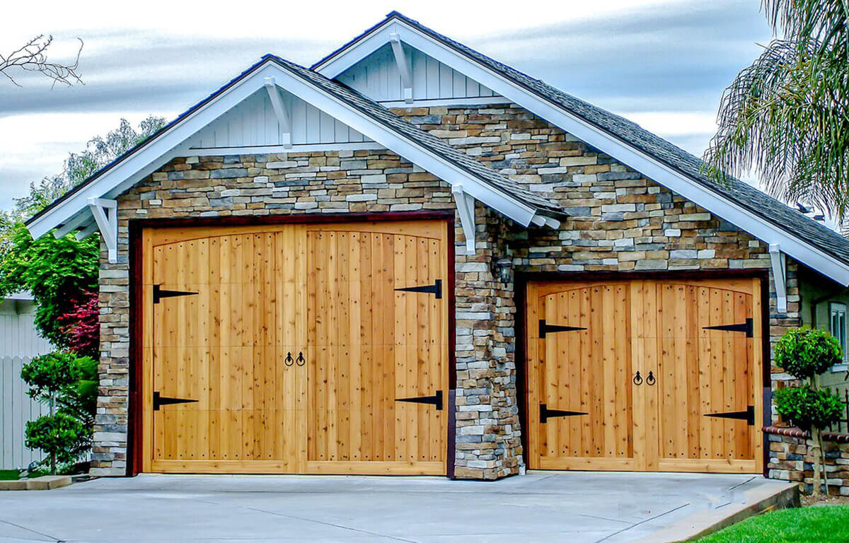Custom Carriage House Spanish Mediterranean RW Garage Doors