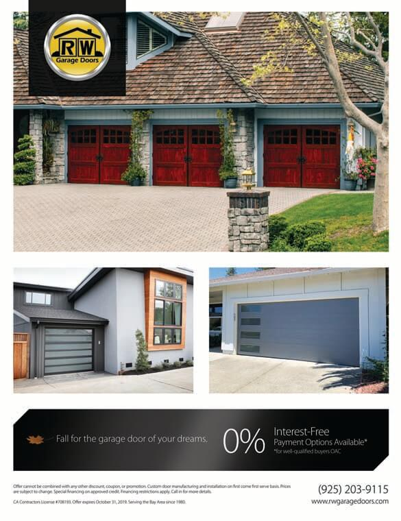 RW Garage Doors Fall Promotions