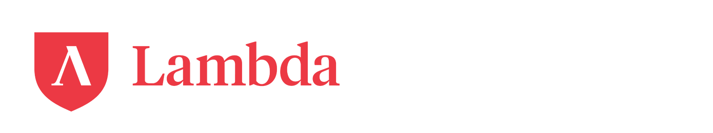 Amazon and Lambda logos.