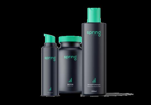 Spring Haarausfall Vorbeugen Paket. Inhaltsstoffe: Biotin Kapseln & Baicapil™ Shampoo