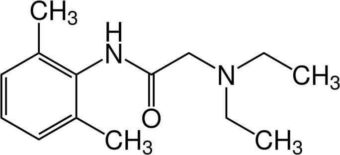 Lidocain - Chemische Zusammensetzung