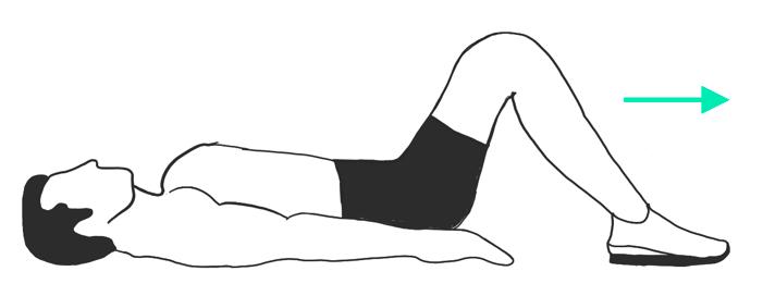 Beckenbodenübung: Die Beine heben