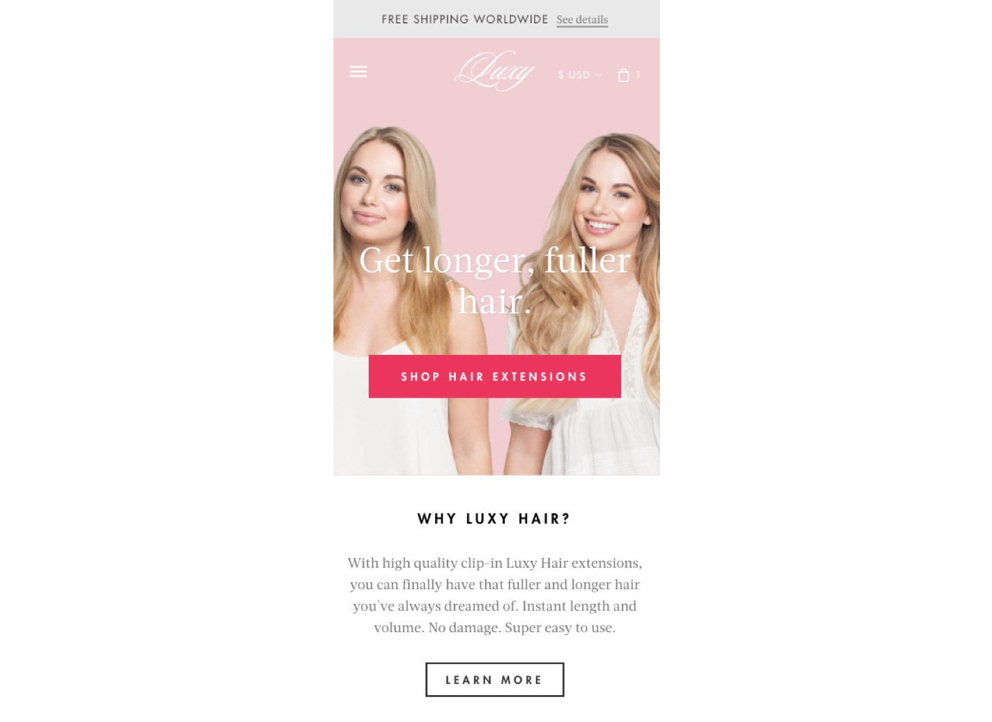 Image of mobile screen displaying two women