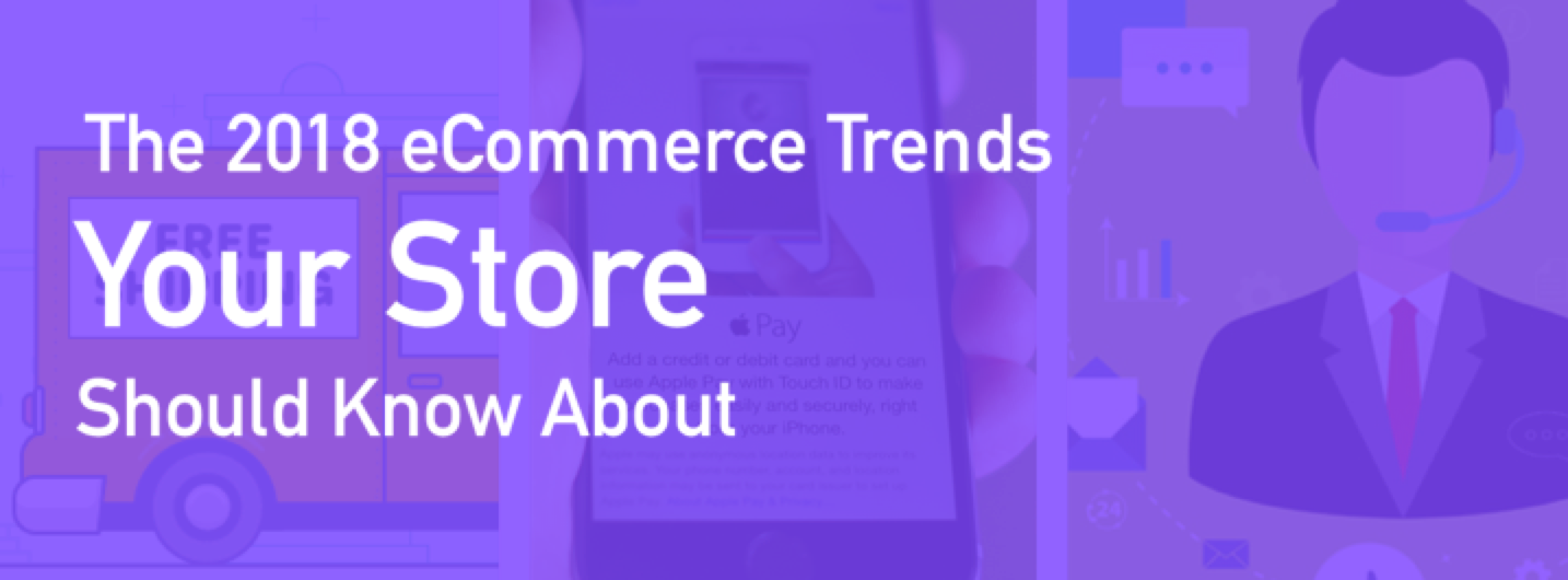 "Image saying, ""The 2018 eCommerce trends your store should know about"""
