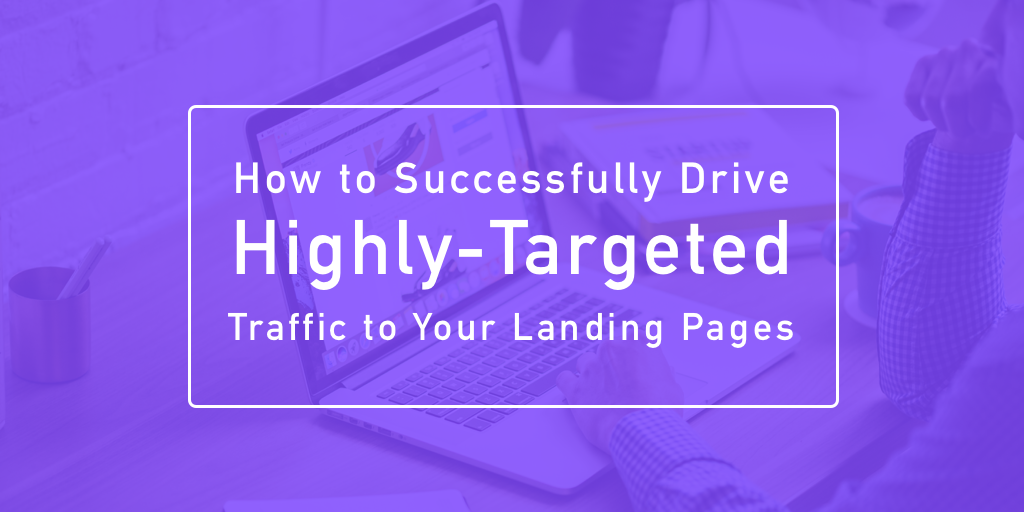 "visual that says, ""How to Successfully Drive Highly-Targeted Traffic to Your Landing Pages"""