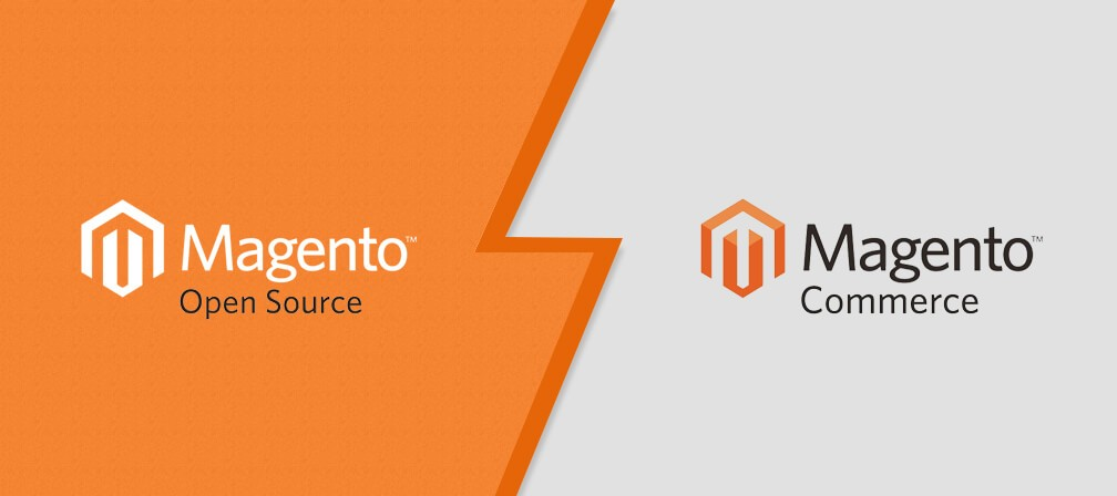 Magento open source and Magento commerce