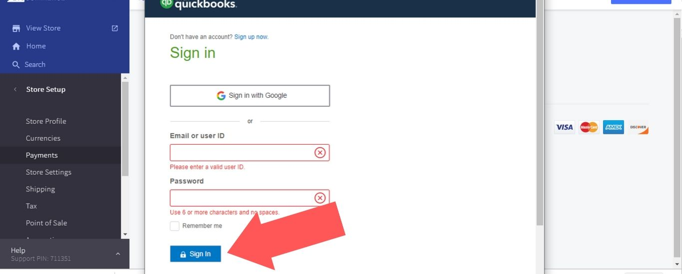 """Enter your credentials and select """"Sign In"""" to finish setting up the integration"""