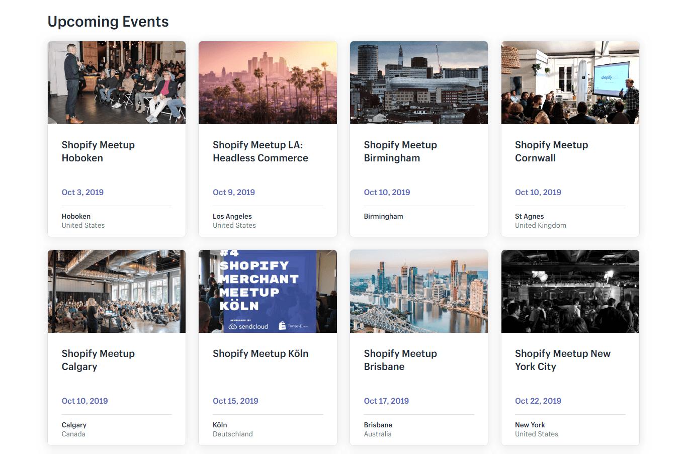 Shopify Meetups