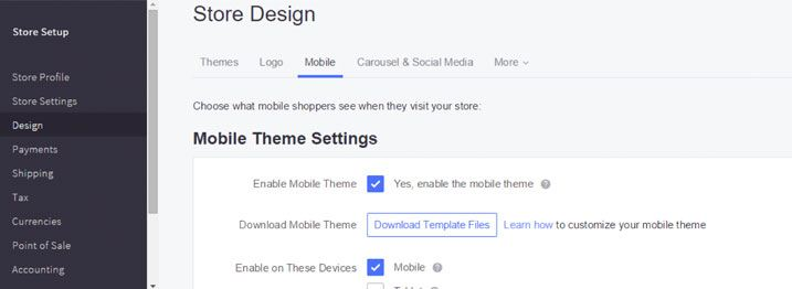 Virtually every theme you can pick from in the BigCommerce marketplace is designed to be responsive and mobile friendly