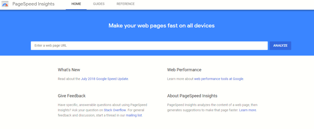 You can also use free tools like Google's PageSpeed Insights to test for factors impacting your load speed