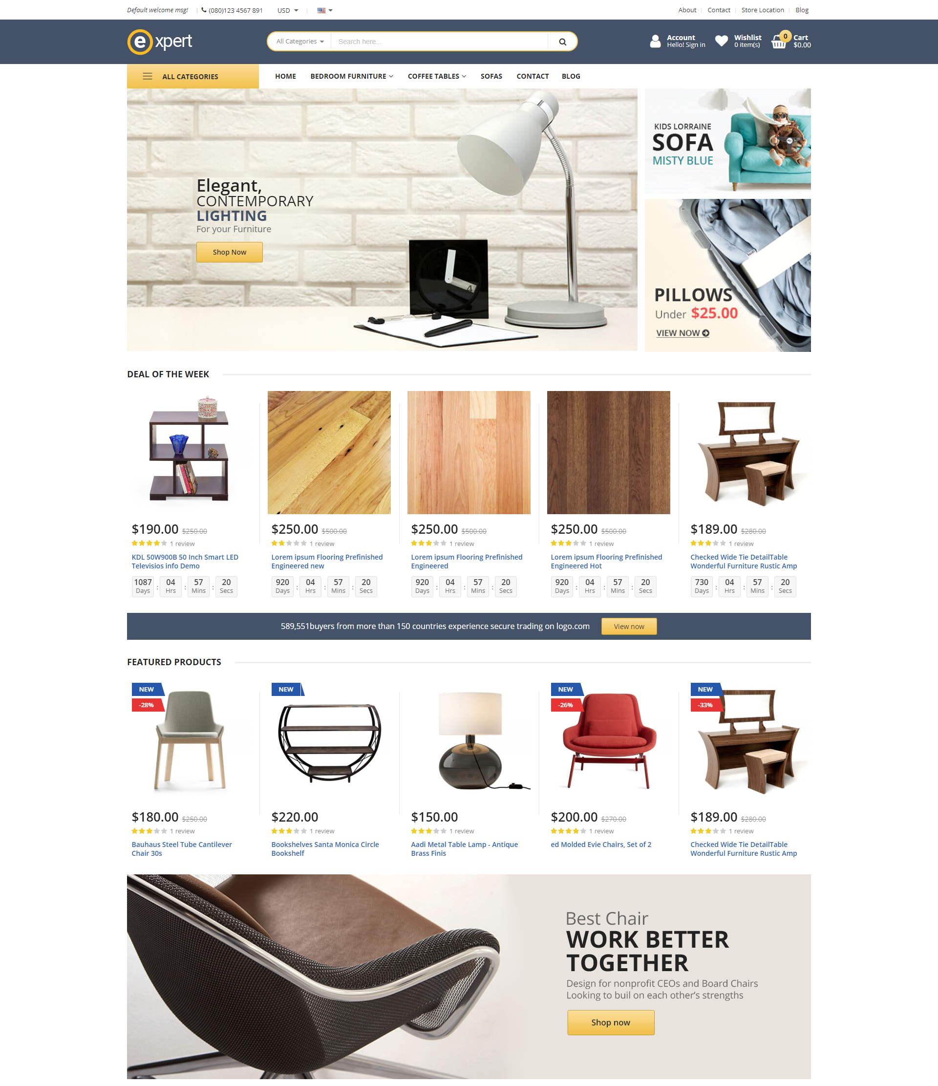 expert theme homepage