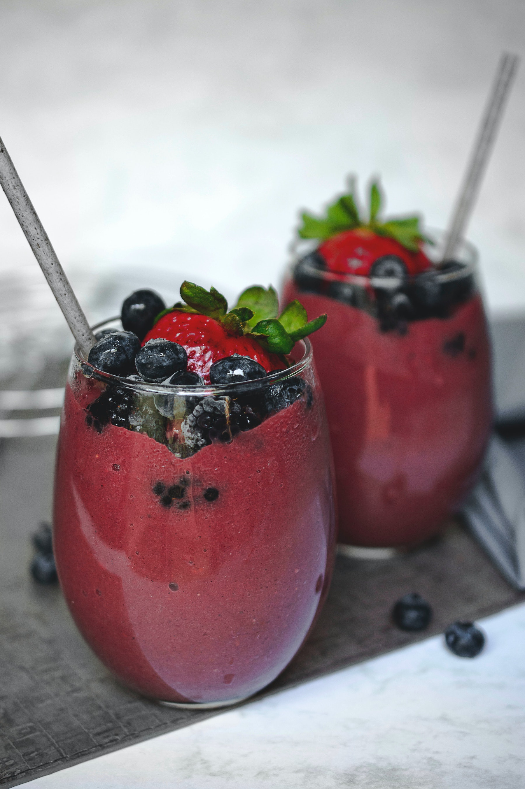 Blueberry Ginger Kombucha Smoothie