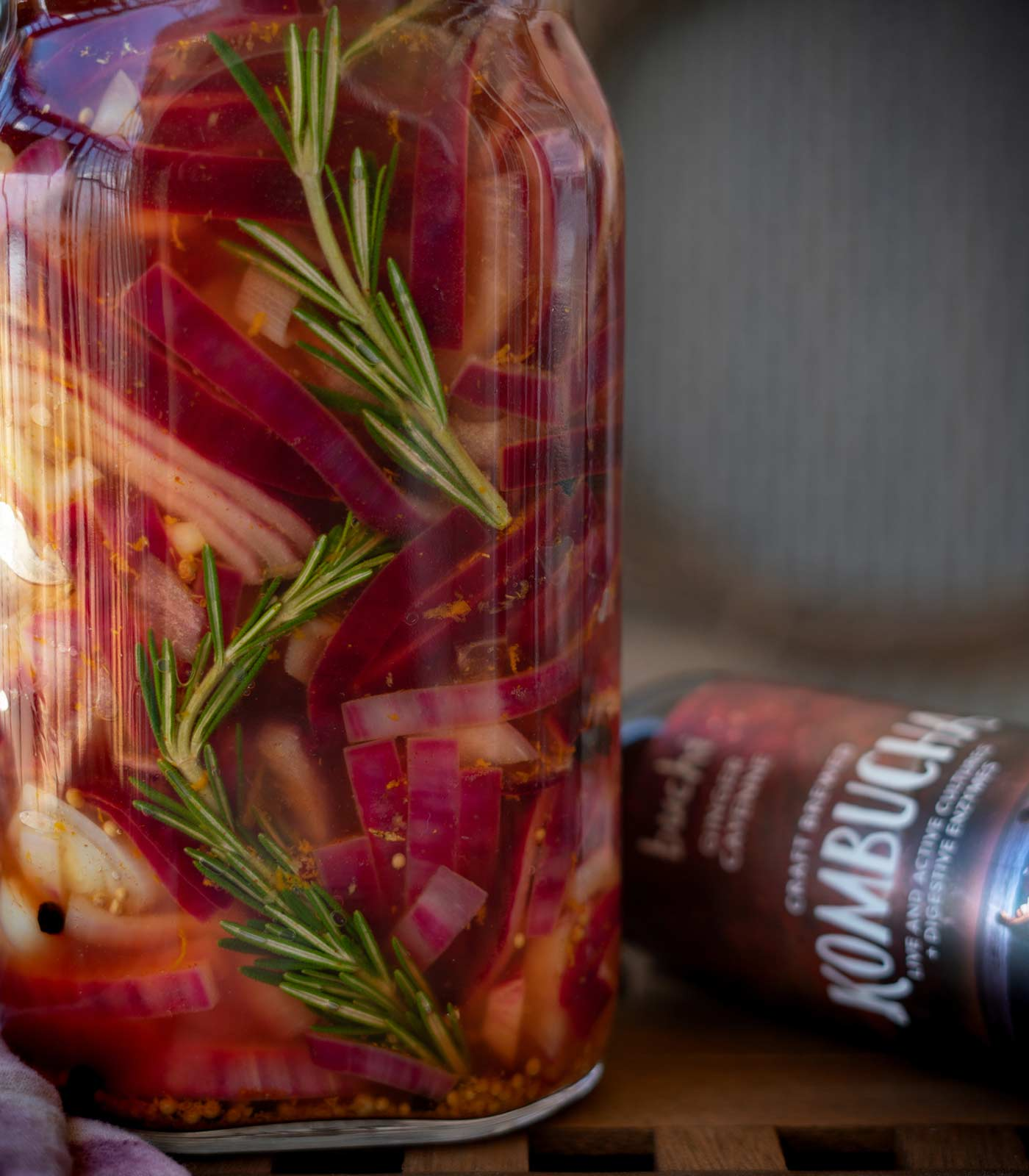 Quick Kombucha Pickled Onions