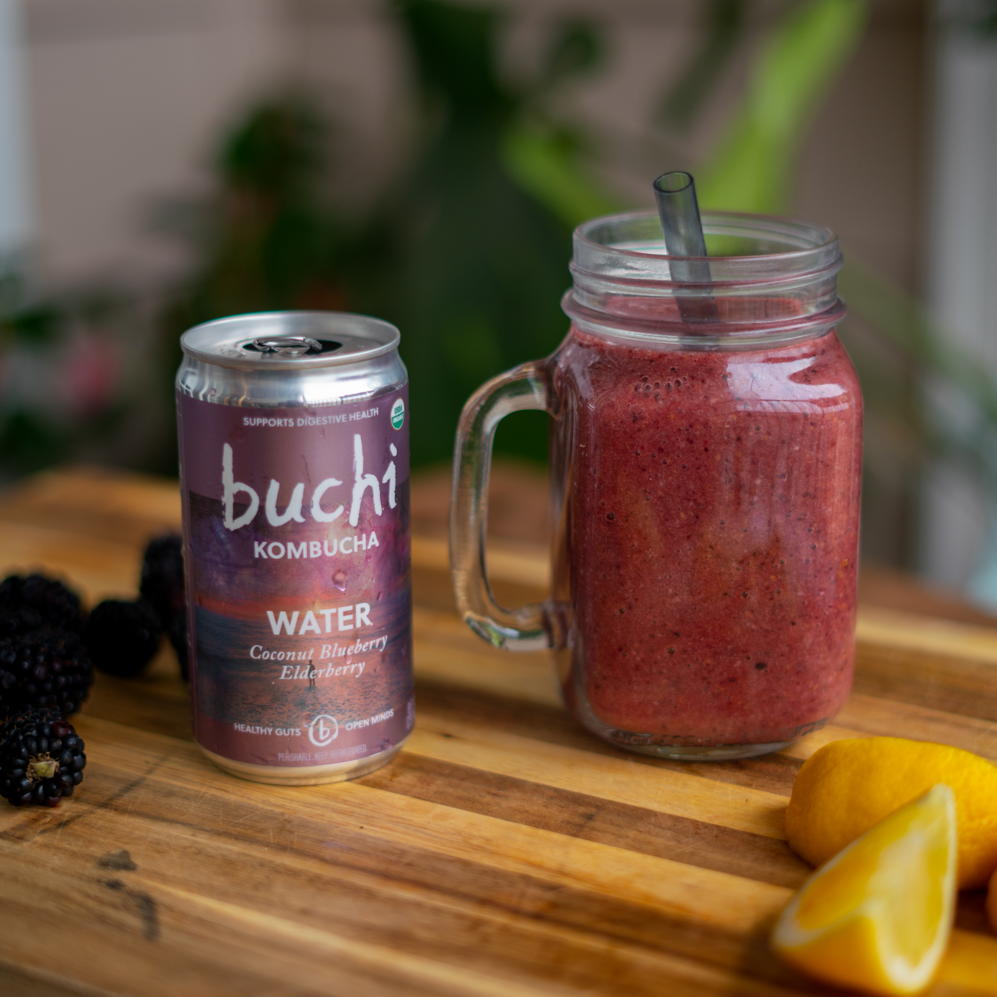 Blackberry Mango Kombucha Smoothie