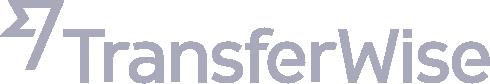 Transferwise logo greyscale